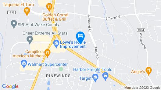 Wingate by Wyndham Raleigh South / Garner Map