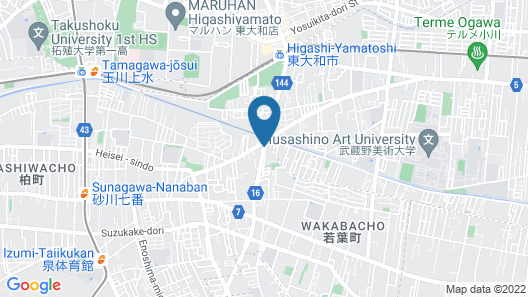 HOTEL GRASSINO URBAN RESORT TACHIKAWA - Adult Only Map