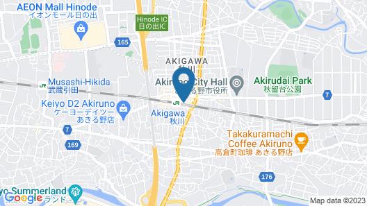 Toyoko Inn Tokyo Akigawa-eki Kita-guchi Map