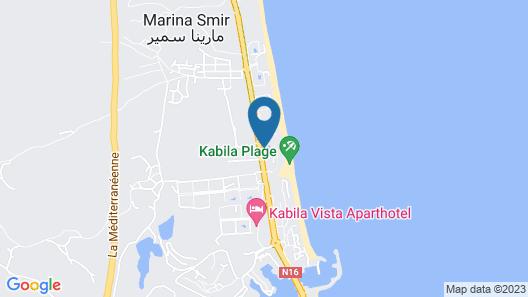 Triplex front de mer à Tétouan  marina Map