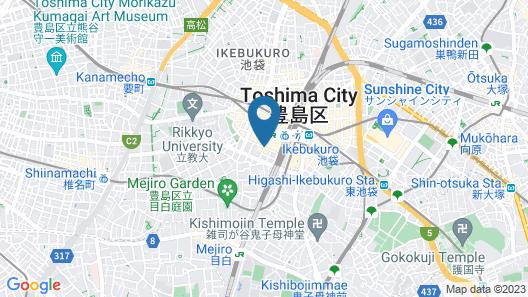 Hotel Metropolitan Tokyo Ikebukuro Map