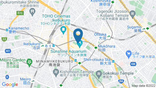 Sunshine City Prince Hotel Map