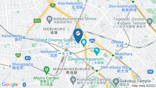 Centurion Hotel Ikebukuro Map