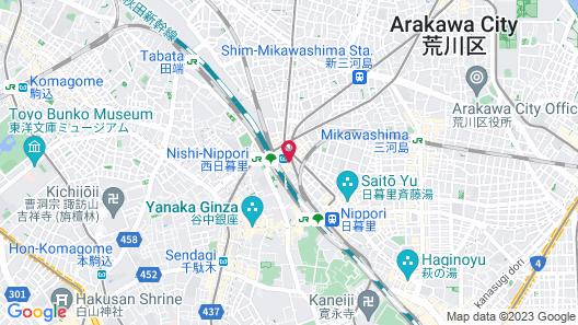 Hotel Tokyo Trip Map