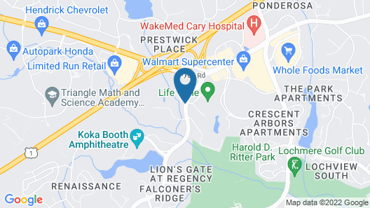 Extended Stay America - Raleigh - Cary - Regency Parkway S Map