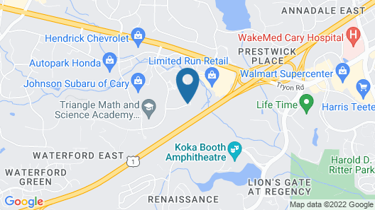 Homewood Suites Raleigh - Cary Map