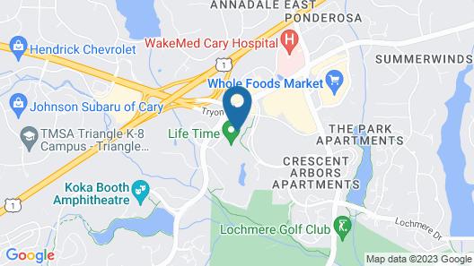 Extended Stay America Suites Raleigh Cary Regency Parkway N Map