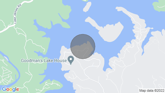 NEW Rental Lake James View Map