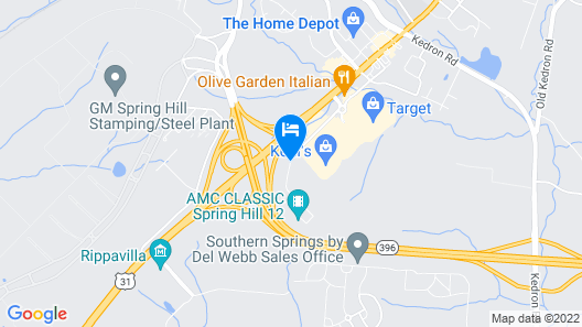 Hampton Inn Spring Hill Map