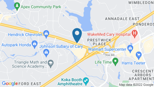 Courtyard by Marriott Raleigh/Cary Map