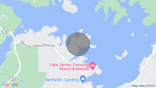 Paradise Home ON Beautiful Lake James!! Map