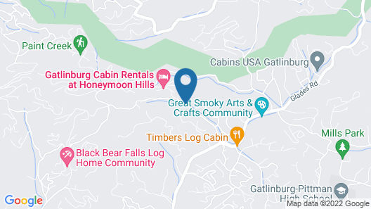Honeymoon Hills Gatlinburg Cabin Rentals Map