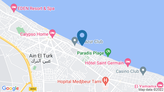 Rental in a Villa in Ain el Turck Map