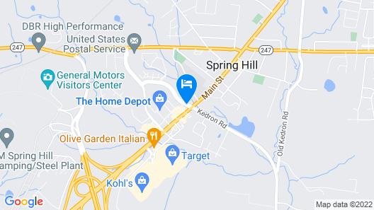 Best Western Spring Hill Inn & Suites Map
