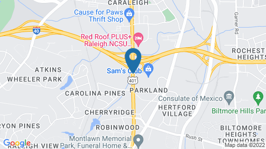 Super 8 by Wyndham Raleigh Downtown Map