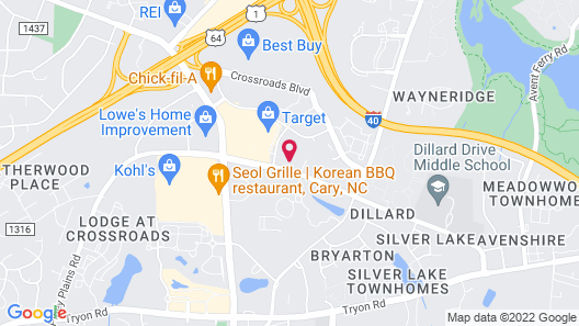Holiday Inn Hotel & Suites Raleigh / Cary, an IHG Hotel Map