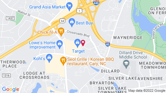 DoubleTree by Hilton Hotel Raleigh-Cary Map