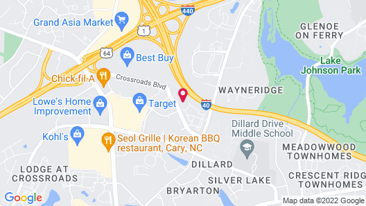 Homewood Suites by Hilton Raleigh Cary I-40 Map