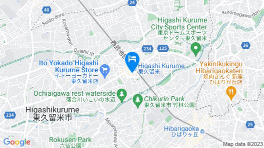 Toyoko Inn Tokyo Seibu Ikebukuro-sen Higashi-kurume-eki Nishi-guchi Map