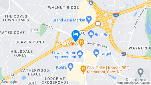 Red Roof Inn Raleigh Southwest - Cary Map