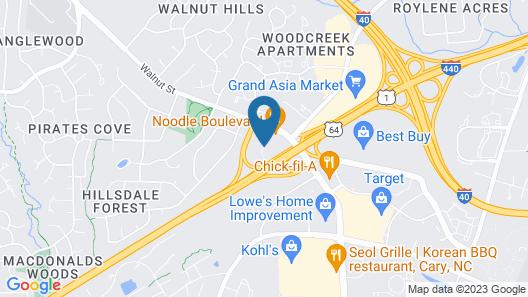 Fairfield Inn & Suites by Marriott Raleigh Cary Map