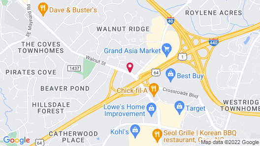 Best Western Plus Cary Inn - NC State Map