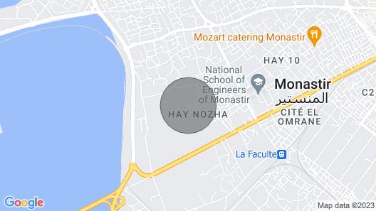 Magnifique logement neuf  meublé Skanes -Monastir Map