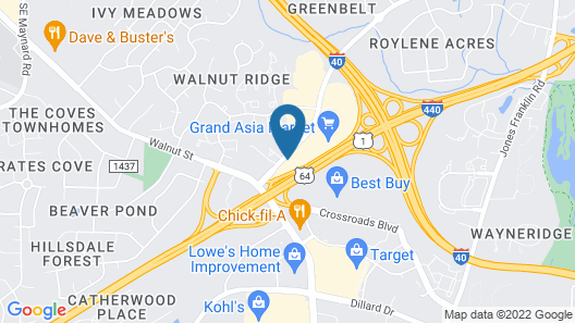 Motel 6 Raleigh, NC - Cary Map