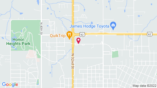 Hampton Inn Muskogee Map