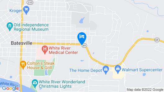 Hampton Inn Batesville Map