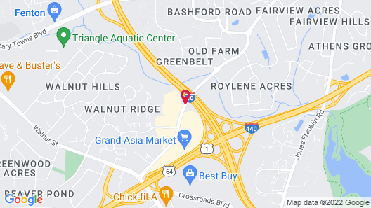 MainStay Suites Raleigh - Cary Map