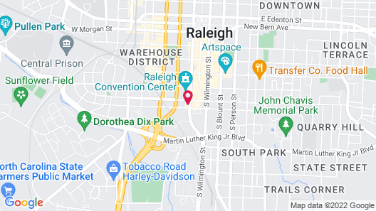 Residence Inn by Marriott Raleigh Downtown Map
