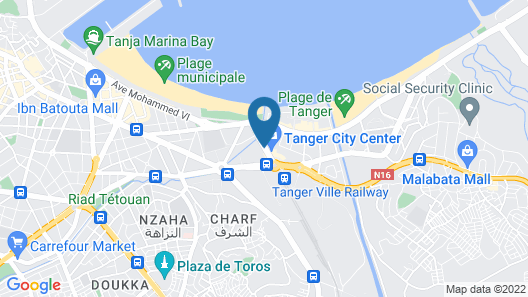 Hilton Garden Inn Tanger City Center Map