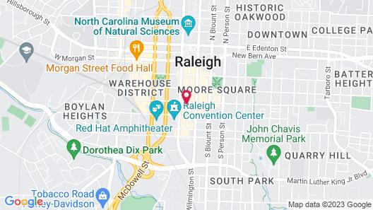 Raleigh Marriott City Center Map