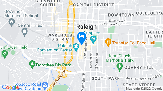 Raleigh Marriott City Center Map