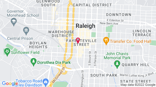 Sheraton Raleigh Hotel Map