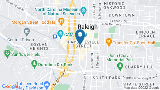 Sheraton Raleigh Hotel Map