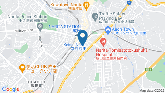 Center Hotel Narita 1 Map