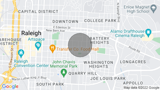Impeccably Clean House - Stay in Downtown Raleigh! Map