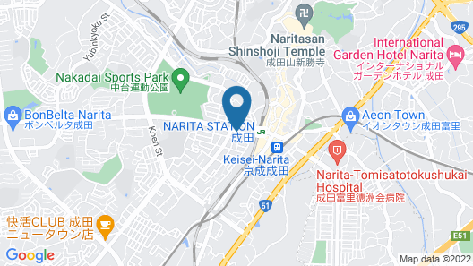 Narita U-City Hotel Map