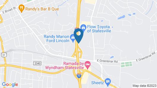 Hampton Inn Statesville Map