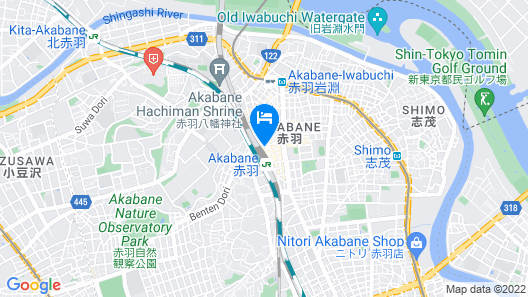 JR-EAST HOTEL METS AKABANE Map