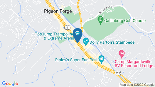 Quality Inn And Suites Dollywood Map