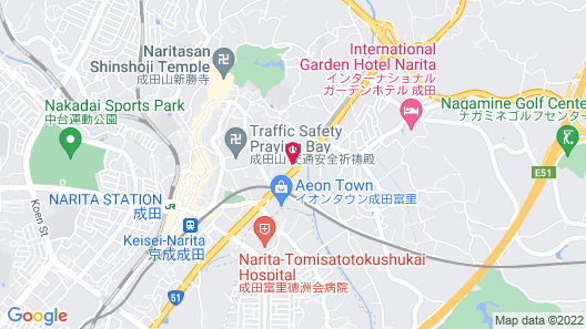The Hedistar Hotel Narita Map