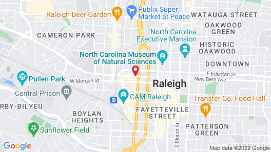 Holiday Inn Raleigh Downtown - Capital, an IHG Hotel Map