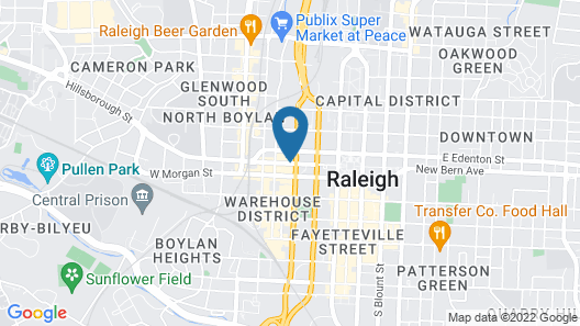 Holiday Inn Raleigh Downtown - Capital, an IHG Hotel Map