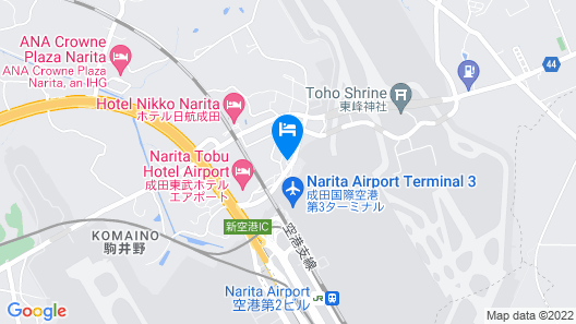 Toyoko Inn Narita Airport Honkan Map