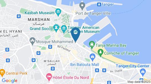 Complexe Jardins Andalous Map