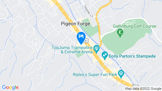 Super 8 by Wyndham Pigeon Forge Dollywood Lane Map