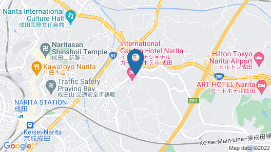 International Garden Hotel Narita Map